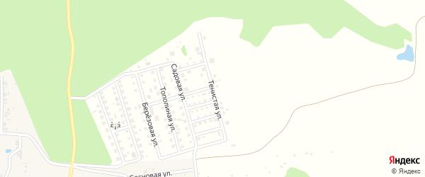 Тенистая улица на карте дачного некоммерческого партнерства Золотого с номерами домов