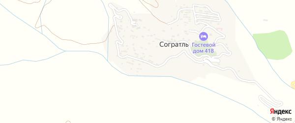 Улица Лъогоб на карте села Согратля с номерами домов
