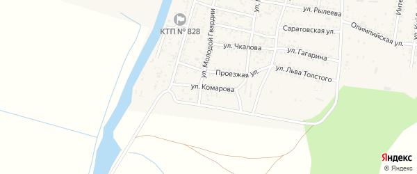 Улица Комарова на карте села Сасыколи с номерами домов