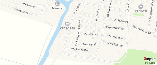 Улица Молодой Гвардии на карте села Сасыколи с номерами домов