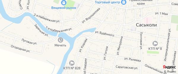 Улица Кирова на карте села Сасыколи с номерами домов
