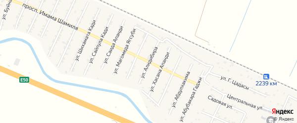 Улица Алидибира на карте Стальского села с номерами домов