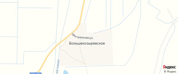 Карта Большекозыревского села в Дагестане с улицами и номерами домов