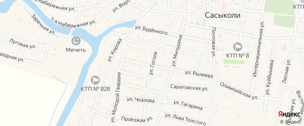 Улица Гоголя на карте села Сасыколи с номерами домов