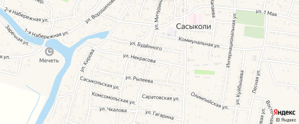Улица Мичурина на карте села Сасыколи с номерами домов