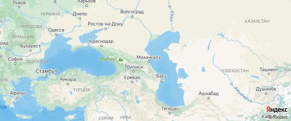 Карта Дагестана с городами и районами