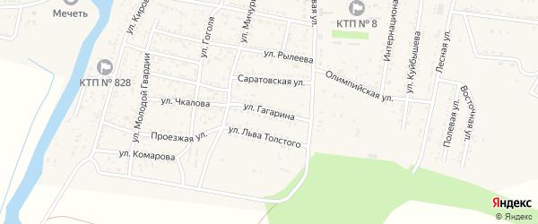 Улица Гагарина на карте села Сасыколи с номерами домов