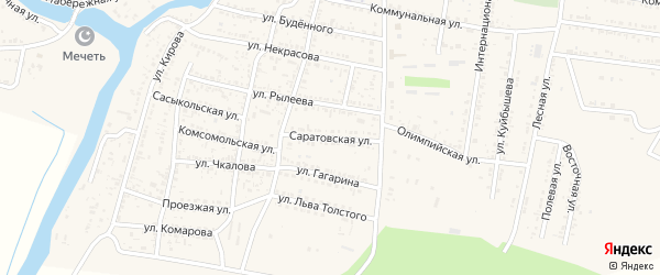 Саратовская улица на карте села Сасыколи с номерами домов