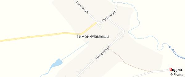 Луговая улица на карте деревни Тимой-Мамыши с номерами домов