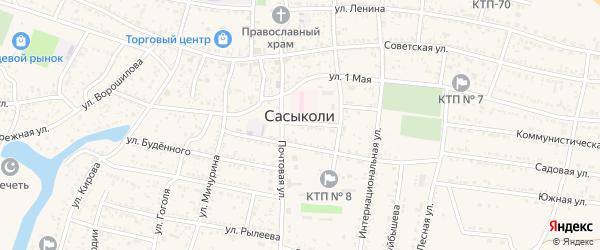 Проезжая улица на карте села Сасыколи с номерами домов