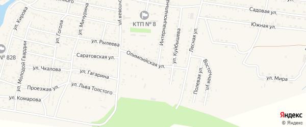 Олимпийская улица на карте села Сасыколи с номерами домов