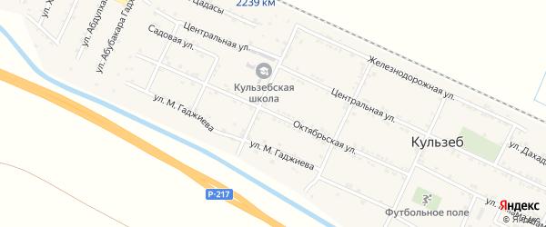 Октябрьская улица на карте села Кульзеба с номерами домов