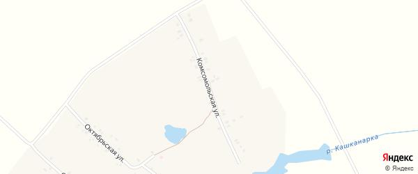 Комсомольская улица на карте деревни Эндимиркас с номерами домов