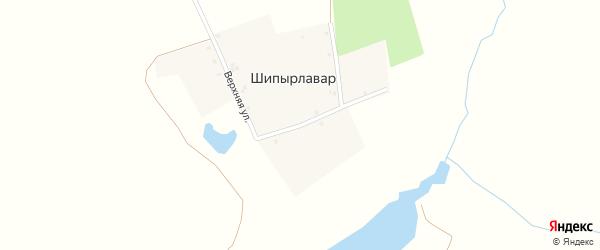 Лесной переулок на карте деревни Шипырлавара с номерами домов