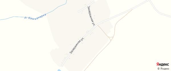 Заовражная улица на карте деревни Эндимиркас с номерами домов