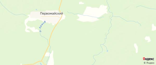 Карта Первомайского сельского поселения республики Чувашия с районами, улицами и номерами домов