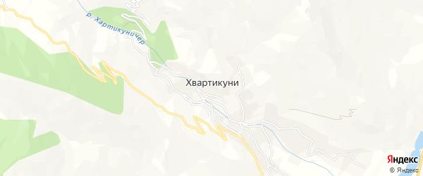 Карта села Хвартикуни в Дагестане с улицами и номерами домов