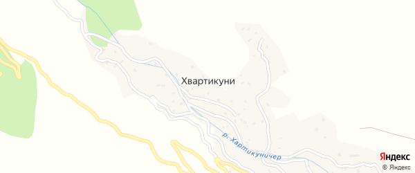 Центральная улица на карте села Хвартикуни с номерами домов
