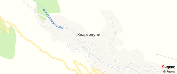 Нижная улица на карте села Хвартикуни с номерами домов