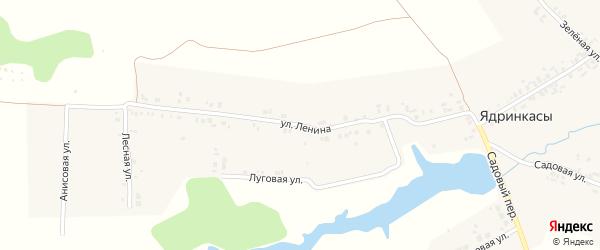 Улица Ленина на карте деревни Ядринкасы с номерами домов