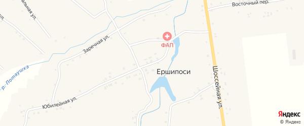 Юбилейная улица на карте деревни Ершипоси с номерами домов