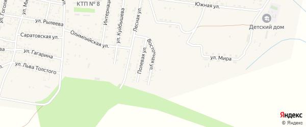 Восточная улица на карте села Сасыколи с номерами домов