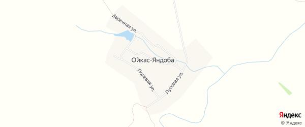 Карта деревни Ойкас-Яндоба в Чувашии с улицами и номерами домов