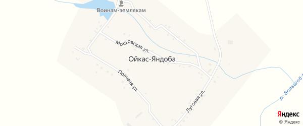 Полевая улица на карте деревни Ойкас-Яндоба с номерами домов