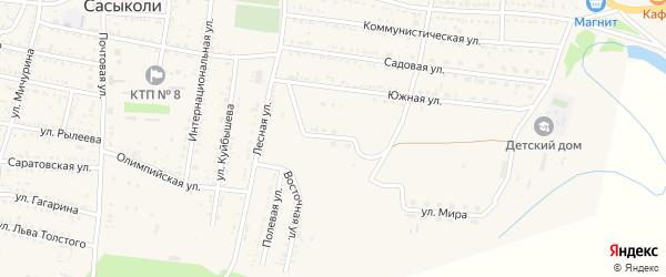 Улица 50 лет Победы на карте села Сасыколи с номерами домов