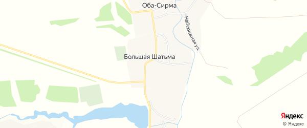 Карта села Большей Шатьмы в Чувашии с улицами и номерами домов