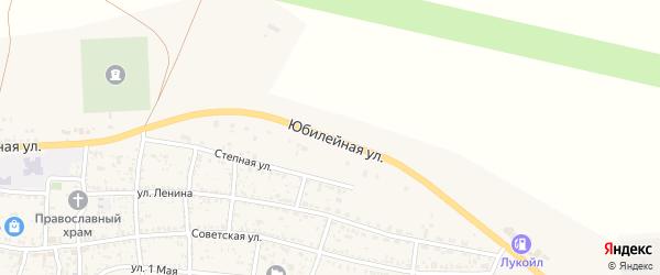 Юбилейная улица на карте села Сасыколи с номерами домов
