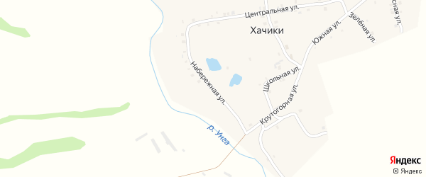 Набережная улица на карте деревни Хачики с номерами домов