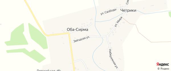 Солнечная улица на карте деревни Оба-Сирмы с номерами домов