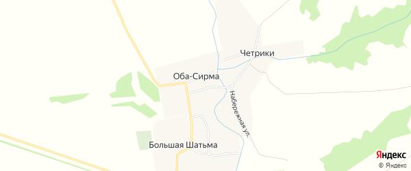 Карта деревни Оба-Сирмы в Чувашии с улицами и номерами домов