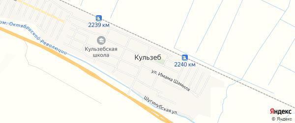 Карта села Кульзеба в Дагестане с улицами и номерами домов