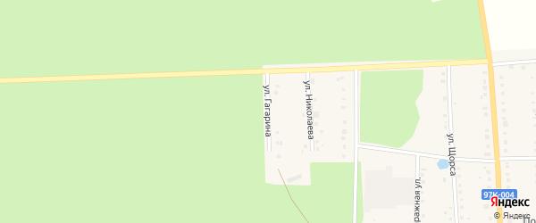 Улица Гагарина на карте поселка Ибреси с номерами домов