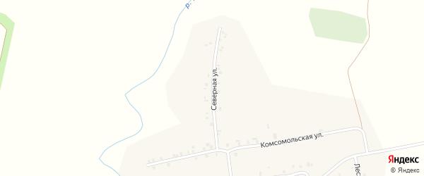 Северная улица на карте деревни Хачики с номерами домов
