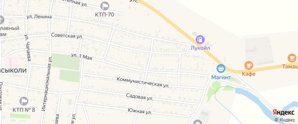 Пролетарский переулок на карте села Сасыколи с номерами домов