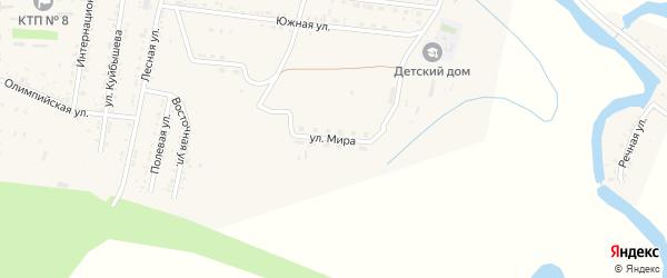 Улица Мира на карте села Сасыколи с номерами домов