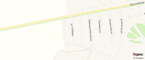 Улица Победы на карте села Ишлеи с номерами домов