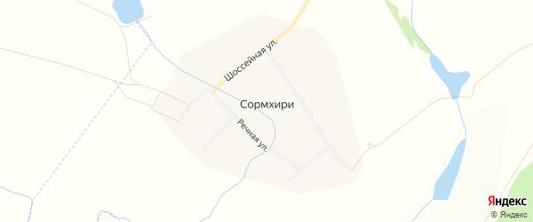 Карта деревни Сормхири в Чувашии с улицами и номерами домов
