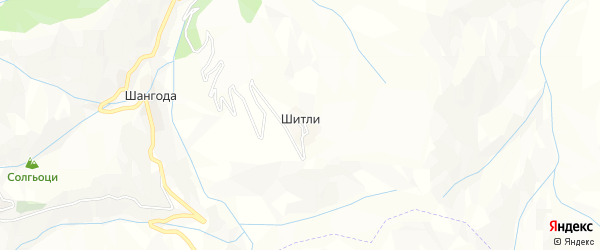 Карта села Шитли в Дагестане с улицами и номерами домов