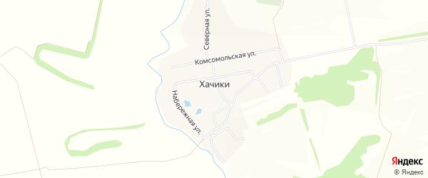 Карта деревни Хачики в Чувашии с улицами и номерами домов