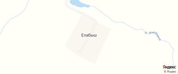 Улица Елабаши на карте деревни Елабыша с номерами домов