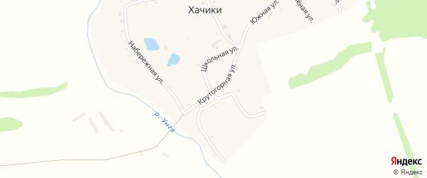 Крутогорная улица на карте деревни Хачики с номерами домов