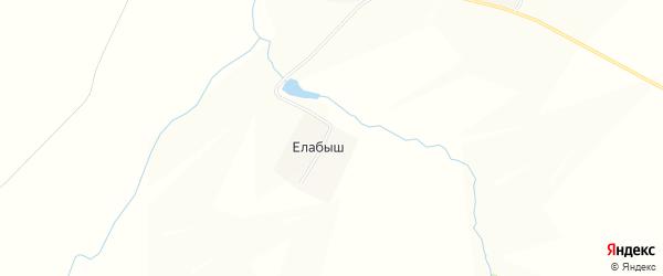 Карта деревни Елабыша в Чувашии с улицами и номерами домов
