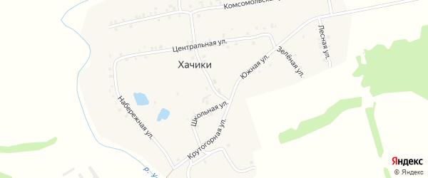 Школьная улица на карте деревни Хачики с номерами домов