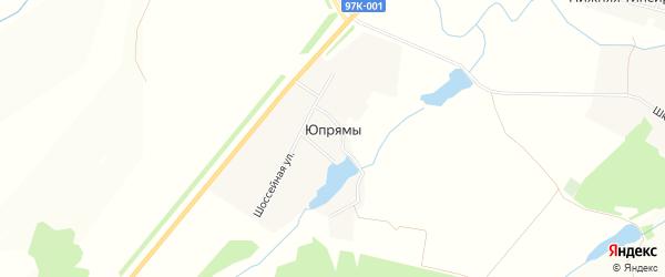 Карта деревни Юпрямы в Чувашии с улицами и номерами домов
