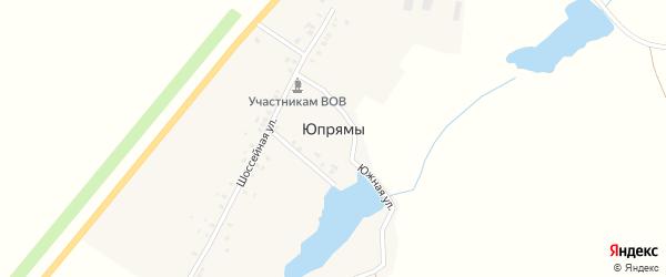 Прудовая улица на карте деревни Юпрямы с номерами домов