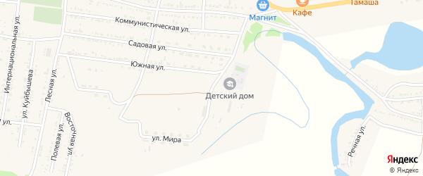 Молодежная улица на карте села Сасыколи с номерами домов
